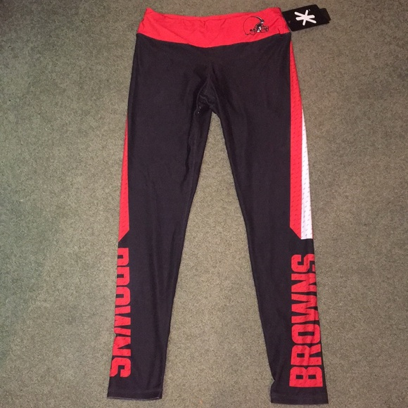 7929216a cleveland browns leggings NWT